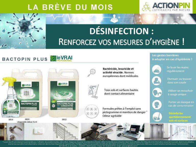 Breve Du Mois Bactopin Plus Desinfection Epidemie